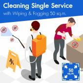 Cleaning (Single Service) and Disinfection Wiping & Fogging 50 sq.m