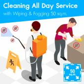 Cleaning (All day Service) and Disinfection Wiping & Fogging 50 sq.m