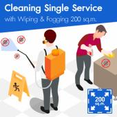 Cleaning (Single Service) and Disinfection Wiping & Fogging 200 sq.m